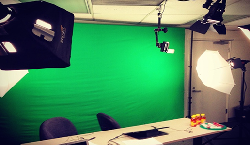 Shot of our video studio